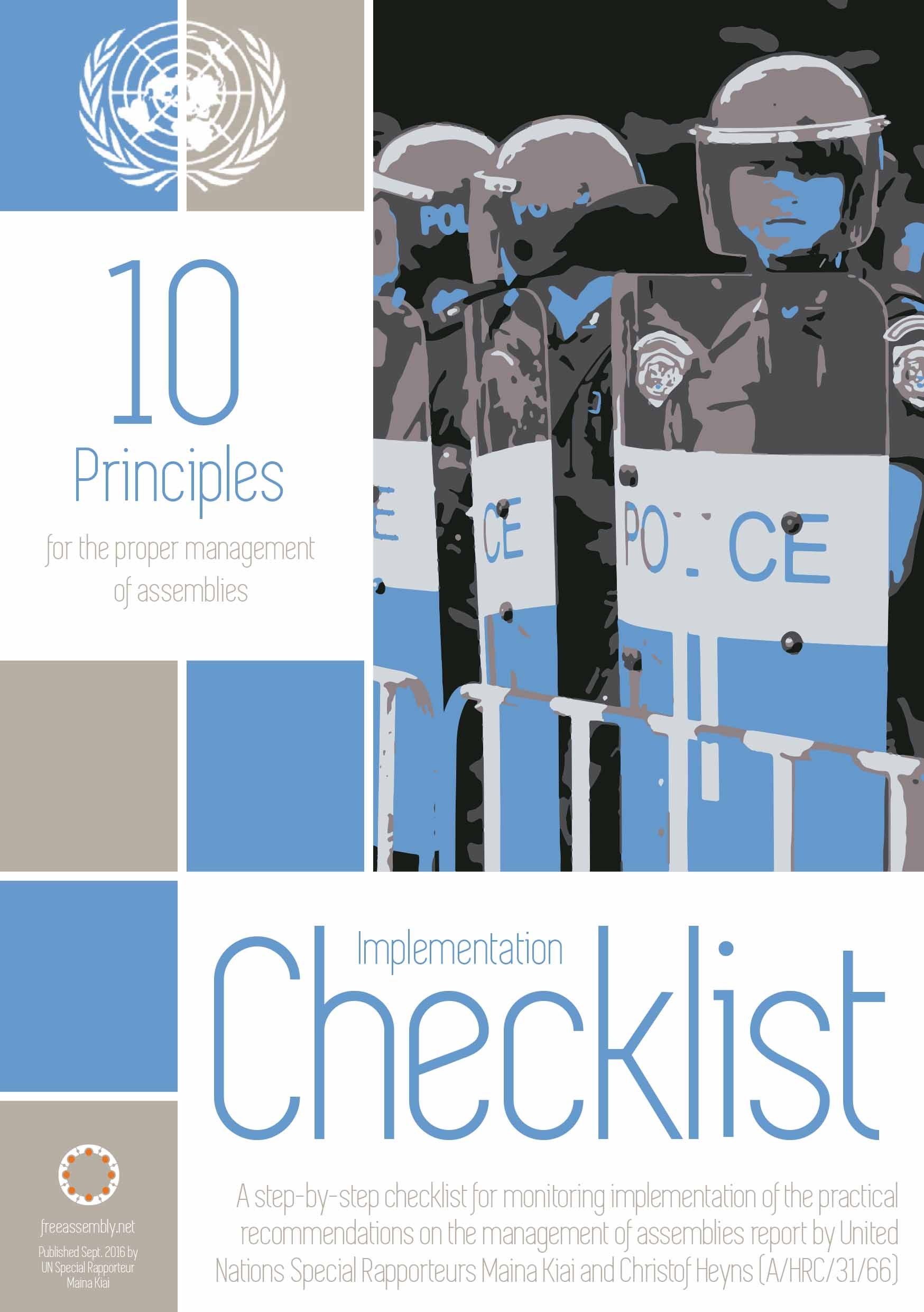 10 Principles for the proper management of assemblies Checklist