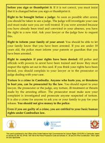 Arrest rights card
