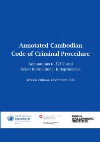 Annotated Cambodian Code of Criminal Procedure