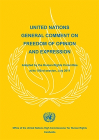 UN General Comment on Freedom of Expression and Opinion