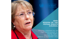 Opening statement by UN High Commissioner for Human Rights, Michelle Bachelet