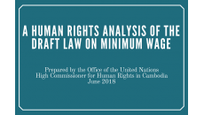 Human Rights Analysis of the Draft Law on Minimum Wage