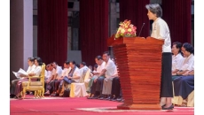 OHCHR-Cambodia Representative gives an address for Human Rights Day