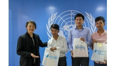Awards ceremony held at OHCHR office for Human Rights Day quiz winners