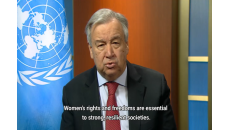 António Guterres on Gender Base Violence and Covid 19
