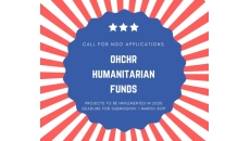 Call for NGO applications: OHCHR humanitarian funds