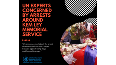 UN experts concerned by arrests around Kem Ley memorial service