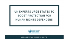 UN experts urge States to boost protection for human rights defenders