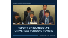 Report on Cambodia's Universal Periodic Review 2019