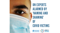 UN experts alarmed by 'naming and shaming' of covid-19 victims