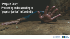 """OHCHR report: """"People's Court"""", Preventing and responding to """"popular justice"""" in Cambodia"""